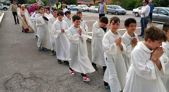 Visita pastorale a Bussi sul Tirino