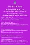 Lectio Divina Quaresima 2017