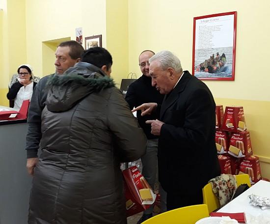 Pranzo di Natale alla mensa Caritas