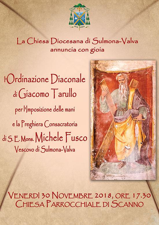 Ordinazione Diaconale di Giacomo Tarullo