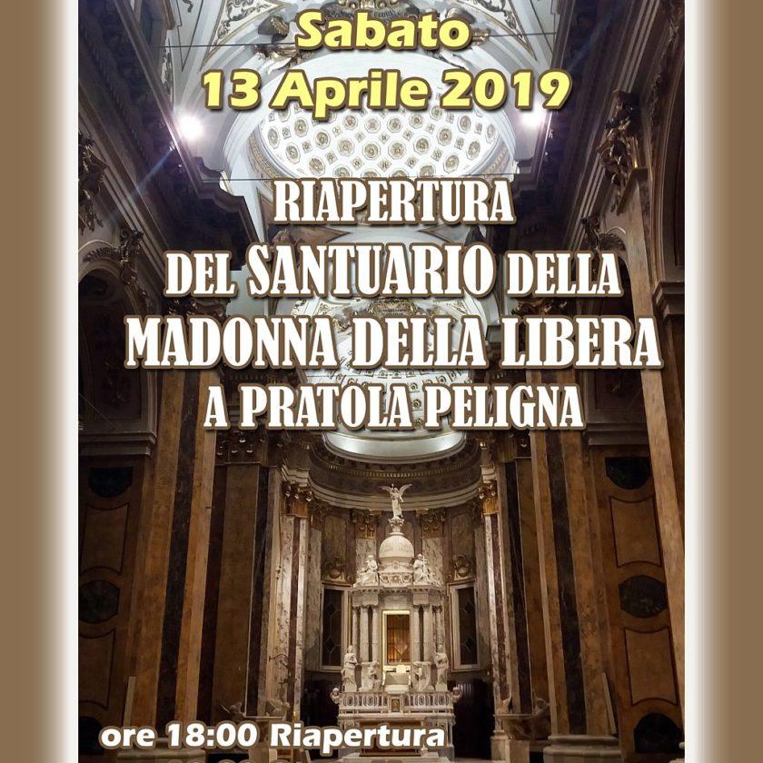 Riapertura del Santuario della Madonna della Libera