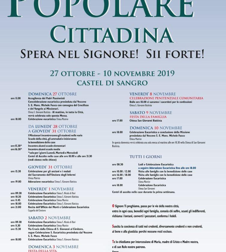 Missione Popolare Cittadina – Castel di Sangro