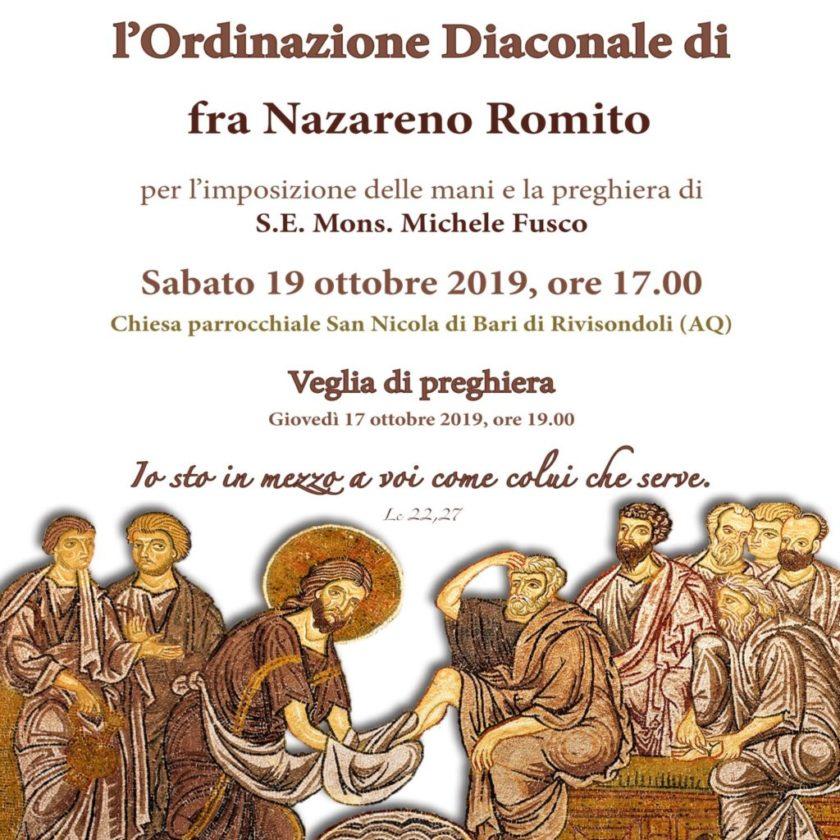 Ordinazione Diaconale di fra Nazareno Romito