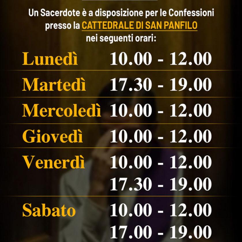 Confessioni in Cattedrale