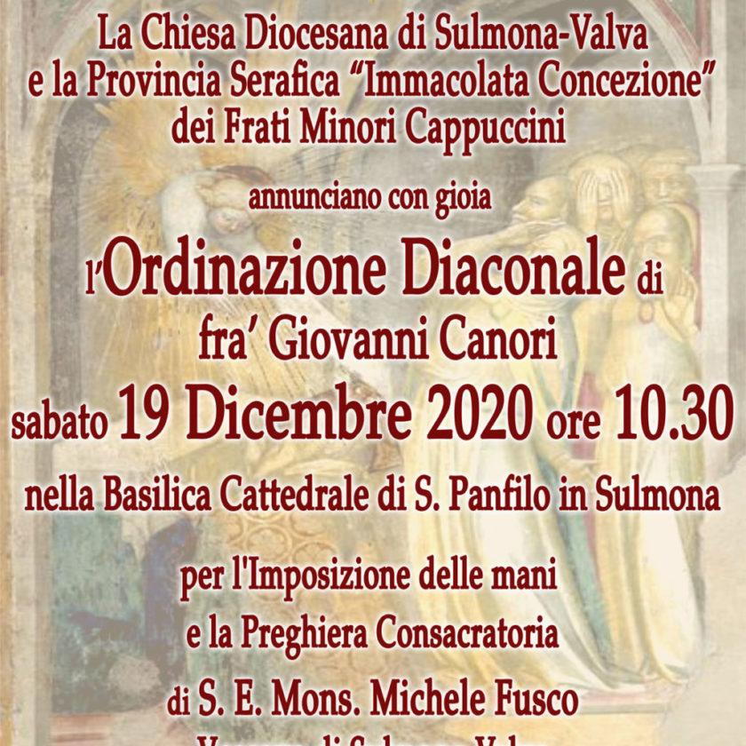 Ordinazione Diaconale di fra' Giovanni Canori