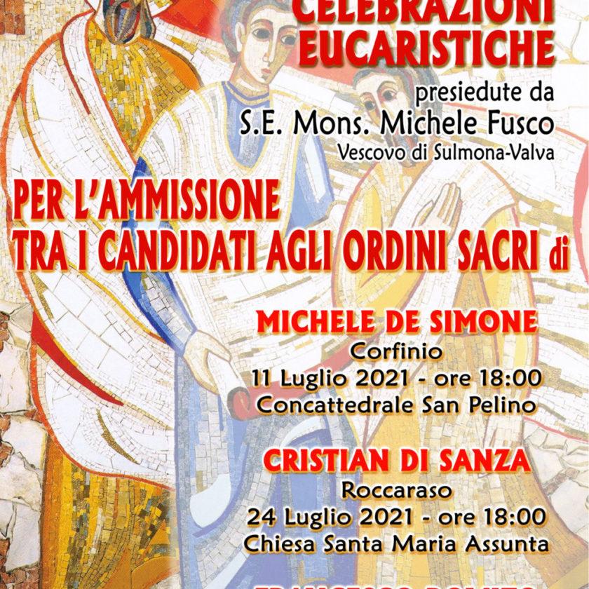 Ammissione tra i Candidati agli Ordini Sacri