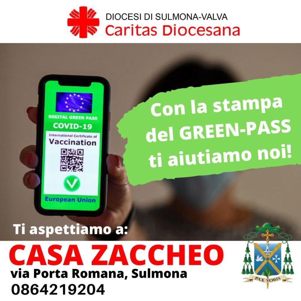 Caritas: con la stampa del Green-Pass ti aiutiamo noi!